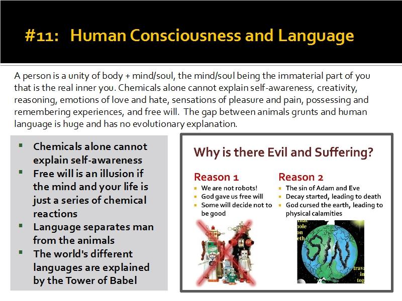 Evidence #11 - Human Consciousness and Language