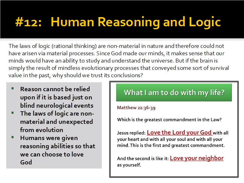 Evidence #12 - Human Reasoning and Logic