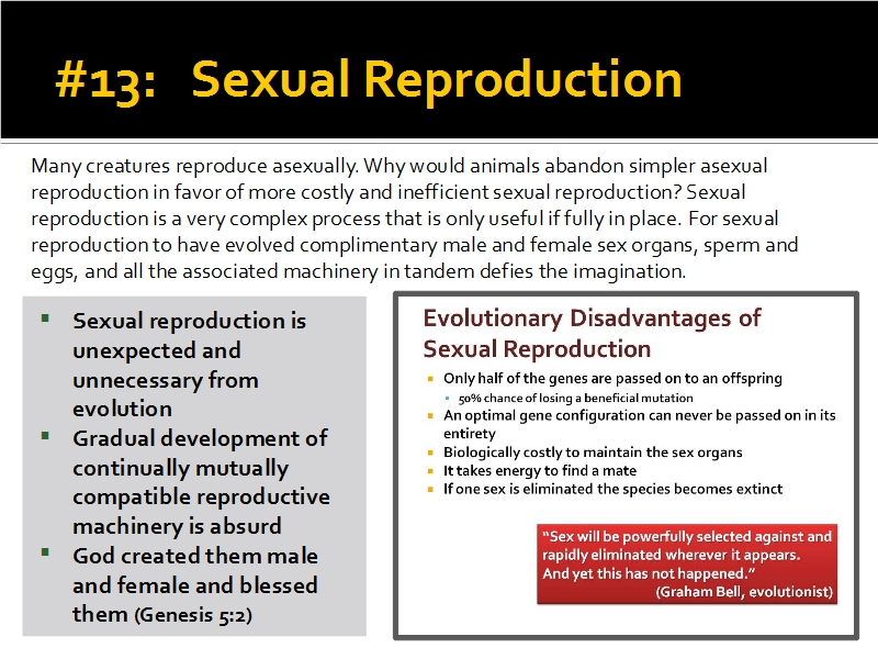 Evidence #13 - Sexual Reproduction