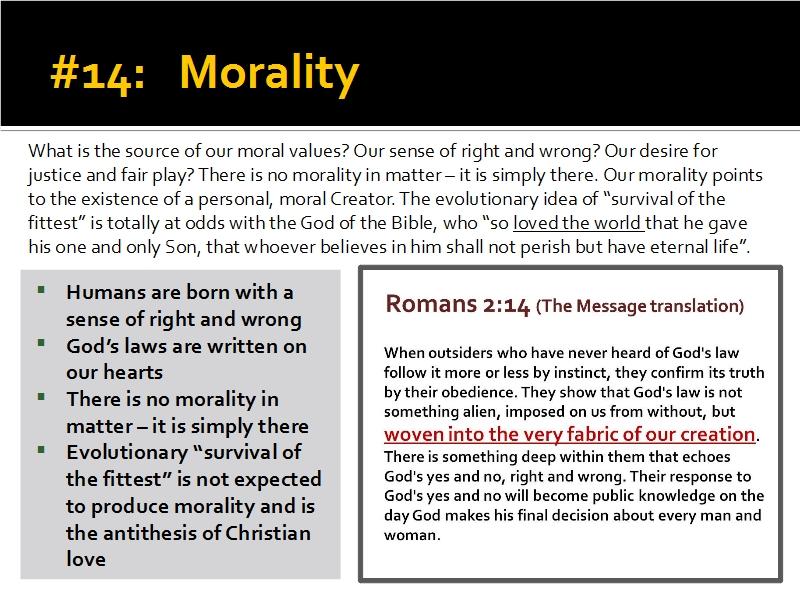 Evidence #14 - Morality