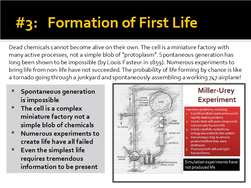 Evidence #3 - Formation of First Life