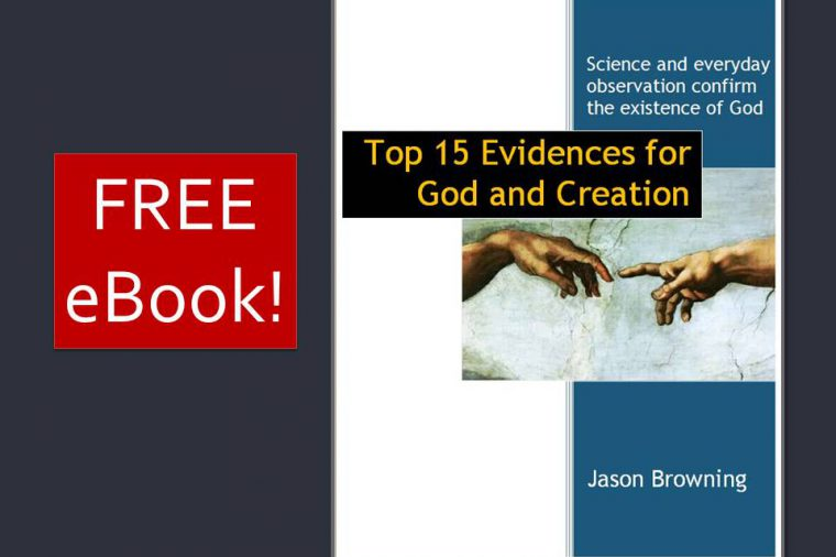 Free eBook on the top 15 evidences for God and creation